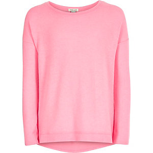 Girls pink slouchy top