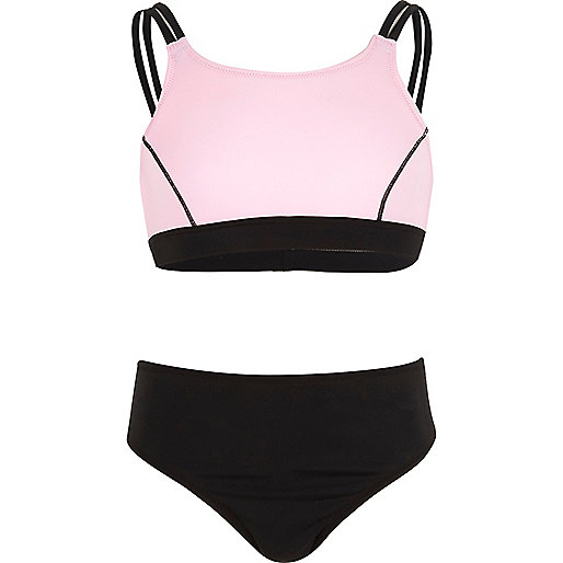 Girls pink sporty bikini
