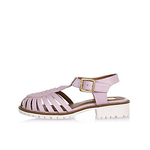 Girls pink geek sandals