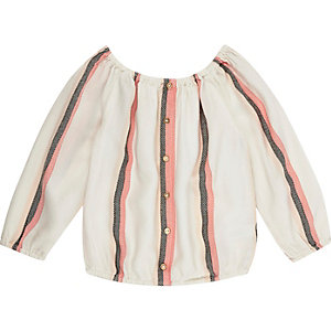 Mini girls pink stripe blouse
