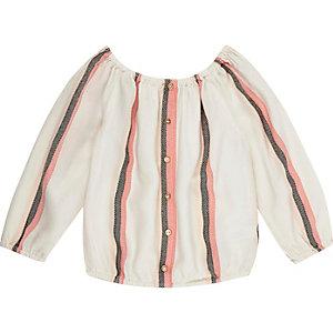 Mini girls pink stripe blouse