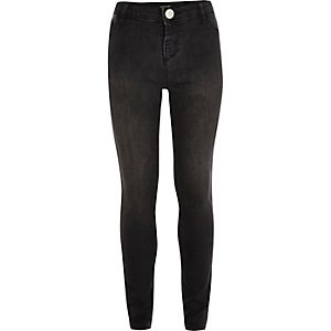 Girls washed black Molly jeggings
