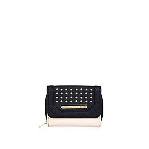 Girls black studded purse