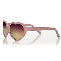 Mini girls pink heart sunglasses