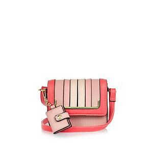 Girls pink mini handbag