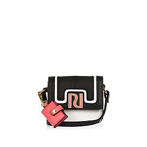 Girls white cross body handbag
