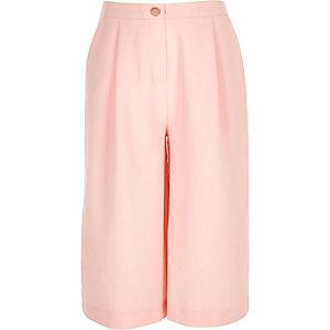 Girls light pink culottes