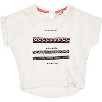 Hübsch bedrucktes T-Shirt in Creme