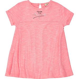 Mini girls pink dreams slogan dress