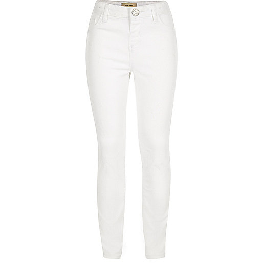Girls white Molly jeggings
