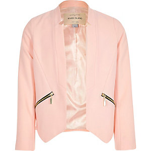 Girls light pink blazer