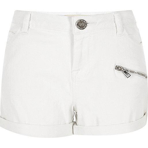 Weiße Jeansshorts für Mädchen