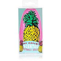 Girls pink pineapple detangler hairbrush
