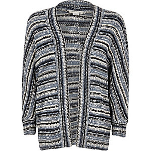 Girls blue knitted cardigan