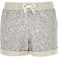 Girls grey jersey shorts