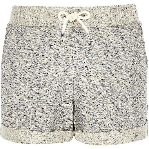 Girls grey jersey shorts