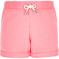 Girls fluro pink jersey shorts