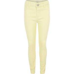 Girls light yellow Molly jeggings