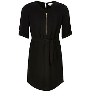 Girls black shirt dress