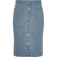 Blauer Jeans-Bleistiftrock