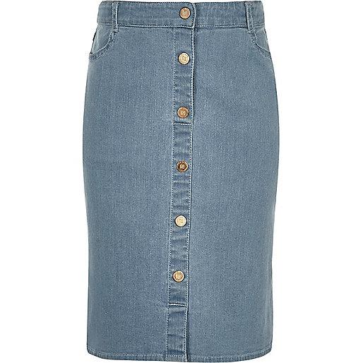 Jupe crayon en jean bleu pour fille