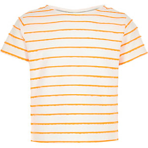 Girls orange stripe t-shirt