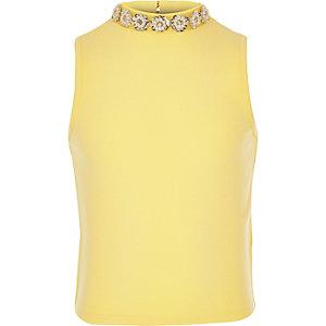 Girls yellow embellished top