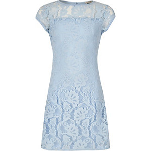 Girls blue lace dress