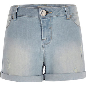 Girls light denim shorts