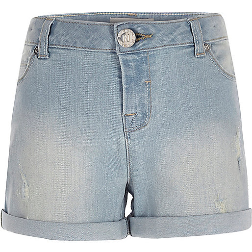 Girls light denim shorts