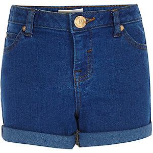 Short en jean bleu vif pour fille