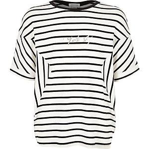Girls black stripe top