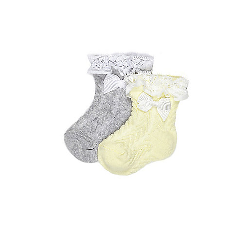 Mini girls yellow socks multipack