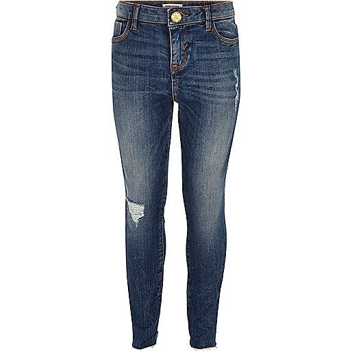 Amelie – Skinny Jeans in Blau mit mittlerer Waschung