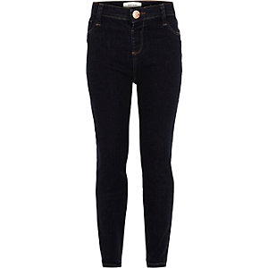 Girls dark blue wash Molly jeggings