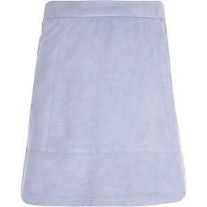 Girls lilac A-line skirt