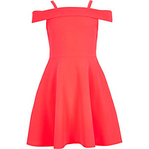 Girls neon pink dress