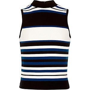 Black stripe sleeveless top