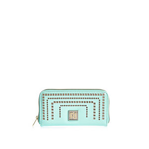 Girls turquoise laser cut purse