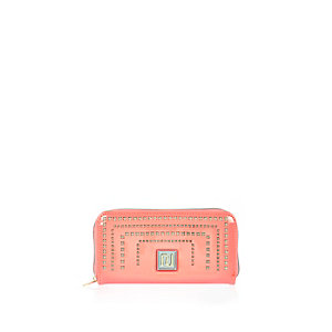 Girls coral laser cut purse