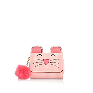 Girls pink mouse purse