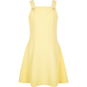Girls yellow pinafore dress
