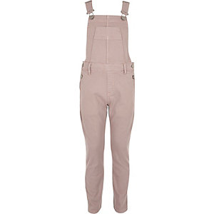 Girls pink overalls