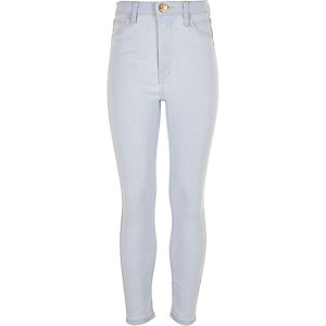 Girls light blue wash Molly jeggings