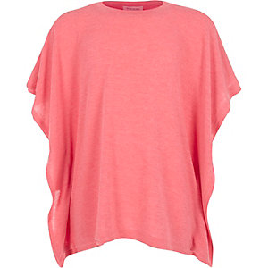 Girls pink square fit top