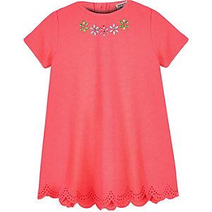 Mini girls pink embellished dress