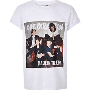 T-shirt imprimé One Direction blanc pour fille