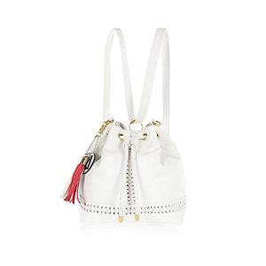 Girls white duffle bag