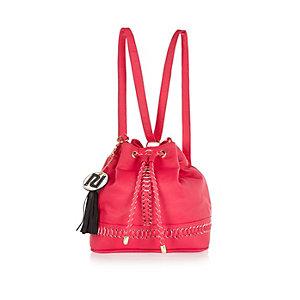 Girls pink duffle bag
