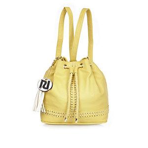 Girls yellow duffle bag
